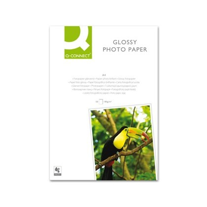 PAPER Q-CONNECT FOTO GLOSSY DIN A4 ALTA QUALITAT DIGITAL PHOTO -PER INK-JET BORSA DE 50 FULLS DE 180