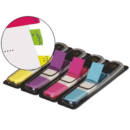 BANDERETES SEPARADORES 683-4AB DISPENSADOR 4 COLORS BRILLANTS