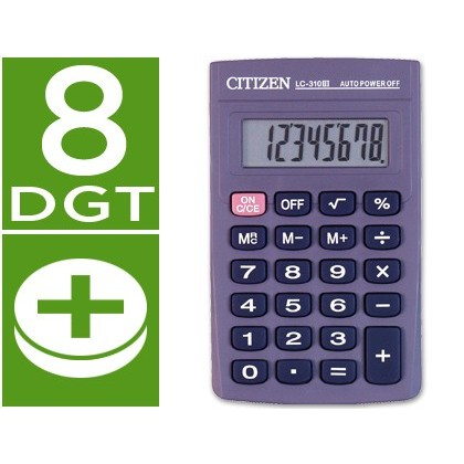 CALCULADORA CITIZEN BOLSILLO LC-310 II 8 DIGITOS