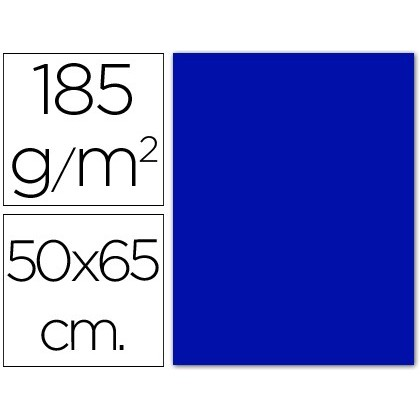 CARTOLINA GUARRO BLAU ULTRAMAR -50X65 CM -185 GR