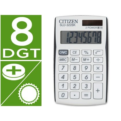 CALCULADORA CITIZEN BOLSILLO SLD-322 BK 8 DIGITOS