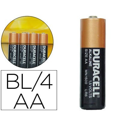 PILA DURACELL ALCALINA SIMPLY AA BLISTER AMB 4 PILES