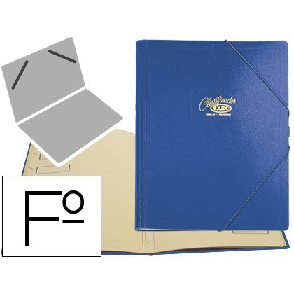 CARPETA CLASSIFICADOR CARTON COMPACTE SARO FOLI BLAU -12 DEPARTAMENTS