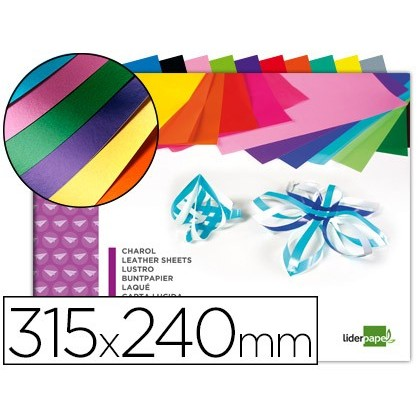BLOC TREBALLS MANUALS LIDERPAPEL XAROL 240X315MM 10HOJAS COLORS ASSORTITS