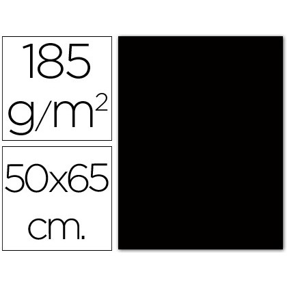 CARTOLINA GUARRO NEGRA -50X65 CM -185 GR