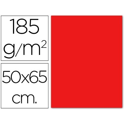 CARTOLINA GUARRO ROJA -50X65 CM -185 GR