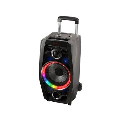 ALTAVOZ NGS BLUETOOTH PORTATIL SPEAKER 80W USB SD RADIO FM AUX IN LUCES LED COLOR NEGRO 640X340X320 MM