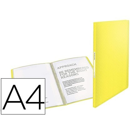 CARPETA ESSELTE ESCAPARATE COLOUR ICE 40 FUNDAS POLIPROPILENO DIN A4 COLOR AMARILLO