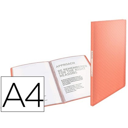 CARPETA ESSELTE ESCAPARATE COLOUR ICE 40 FUNDAS POLIPROPILENO DIN A4 COLOR ALBARICOQUE