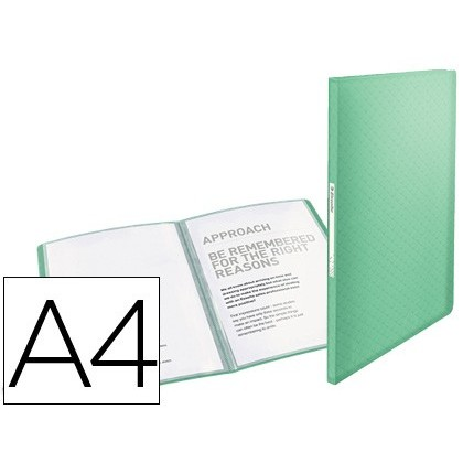 CARPETA ESSELTE ESCAPARATE COLOUR ICE 40 FUNDAS POLIPROPILENO DIN A4 COLOR VERDE