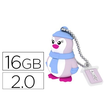 MEMORIA USB EMTEC FLASH 16 GB 2.0 PINGUINO