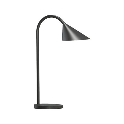 LAMPARA DE ESCRITORIO UNILUX SOL LED 4W BRAZO FLEXIBLE ABS Y METAL NEGRO BASE 14 CM DIAMETRO