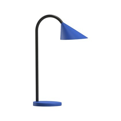 LAMPARA DE ESCRITORIO UNILUX SOL LED 4W BRAZO FLEXIBLE ABS Y METAL AZUL BASE 14 CM DIAMETRO