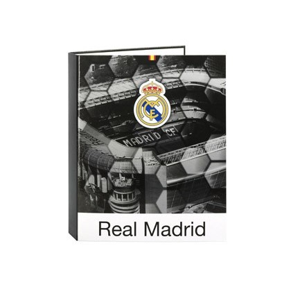 CARPETA 4 ANILLAS 40 MM MIXTAS SAFTA FOLIO FORRADA REAL MADRID