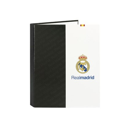 CARPETA 4 ANILLAS 25 MM MIXTAS SAFTA FOLIO FORRADA REAL MADRID