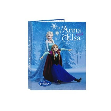 CARPETA 4 ANILLAS 25 MM MIXTAS SAFTA FOLIO FROZEN FRIENDS FOREVER