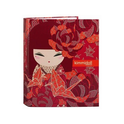CARPETA CARTON FOLIO 4 ANILLAS LOMO ANCHO KIMMIDOLL KAZUNA 270X330X60 MM