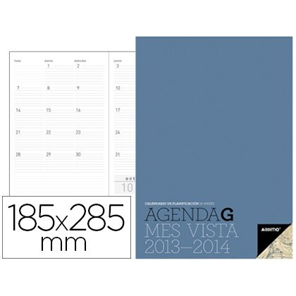 AGENDA ESCOLAR ADDITIO MES A LA VISTA 2018-2019 CALENDARIO DE PLANIFICACION 19,5 X 28,5 CM