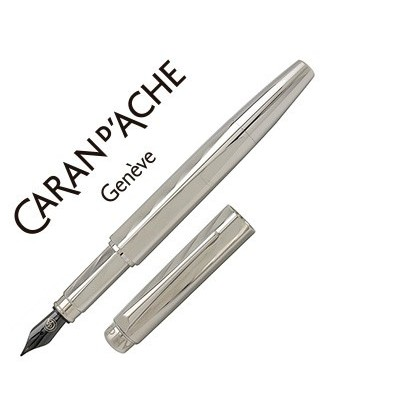 PLUMA CARAN D´ACHE RNX-316 PVD STEEL VERSION GRABADO GUILLOCHE PUNTA MEDIA
