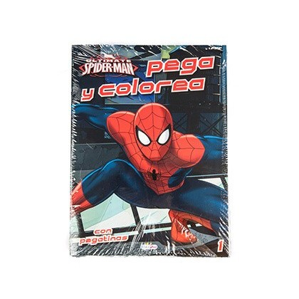 CUADERNO DE COLOREAR SPIDERMAN PEGACOLOR CON PEGATINAS 12 PAGINAS 210X280 MM