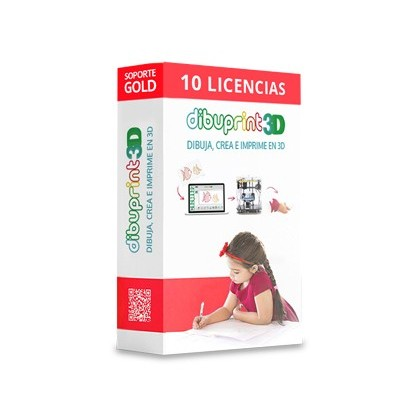 DIBUPRINT 3D COLIDO SOFTWARE SMALL SOPORTE GOLD 8X5 LICENCIAS 10