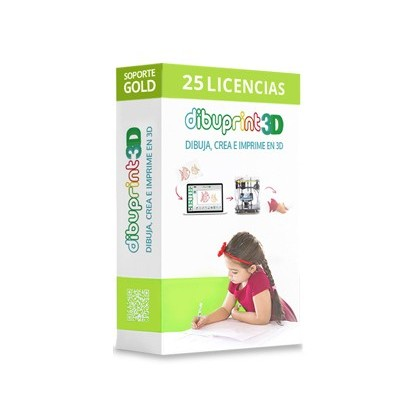 DIBUPRINT 3D COLIDO SOFTWARE MEDIUM SOPORTE GOLD 8X5 LICENCIAS 25