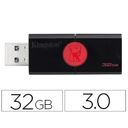 Memoria kingston data traveler 106 32 gb usb 3.0 lectura hasta 100mb/s