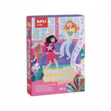 JUEGO APLI KIDS FASHION METALLIC TRANSFER