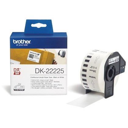 CINTA DE PAPEL CONTINUO BROTHER DK-22225 PARA IMPRESORAS BROTHER QL -38MMX30,48MTS-