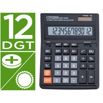 CALCULADORA CITIZEN SOBREMESA SDC-444 S 12 DIGITOS