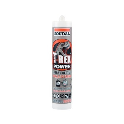 SELLADOR SOUDAL T-REX POWER BLANCO FUERZA EXTREMA 290 ML