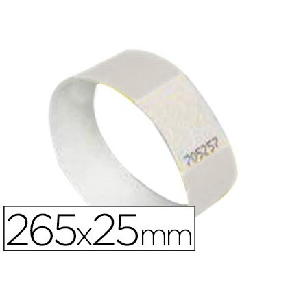 PULSERA IDENTIFICATIVA AVERY POLIETILENO IMPRIMIBLE LASER 265X25 MM COLOR BLANCO PACK DE 48 UNIDADES