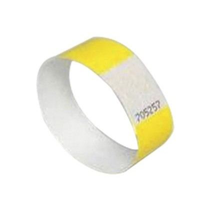 PULSERA IDENTIFICATIVA AVERY POLIETILENO IMPRIMIBLE LASER 265X25 MM COLOR AMARILLO PACK DE 48 UNIDAD