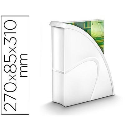 REVISTERO CEP PLASTICO USO VERTICAL / HORIZONTAL BLANCO 85X270X310 MM