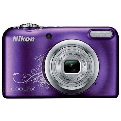 CAMARA DIGITAL NIKON COOLPIX A10 MORADA 16,1 MPX ZOOM OPTICO 5X GRABA VIDEO HD 720 P PILAS AA CON FU