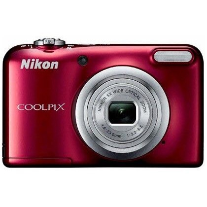 CAMARA DIGITAL NIKON COOLPIX A10 ROJA 16,1 MPX ZOOM OPTICO 5X GRABA VIDEO HD 720 P PILAS AA CON FUND