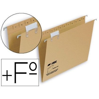 CARPETA COLGANTE HAMELIN FOLIO PROLONGADO VISOR SUPERIOR KRAFT ECO
