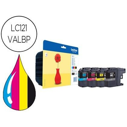 INK-JET BROTHER DCP-J132W/152W/552DW/752DW MFC-J470DW/650DW/870DW PACK 4 COLORES -300 PAG