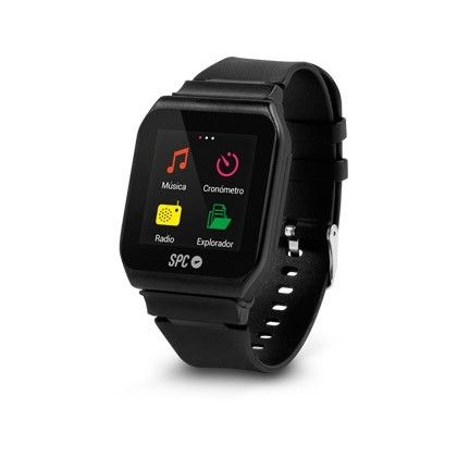 "REPRODUCTOR MP3 TELECOM FORMATO RELOJ 4GB PANTALLA DE 1,5"" TACTIL COLOR NEGRO"