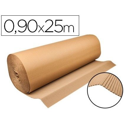 CARTON ONDULADO Q-CONNECT 0,90X25 M 250 G/M2 KRAFT