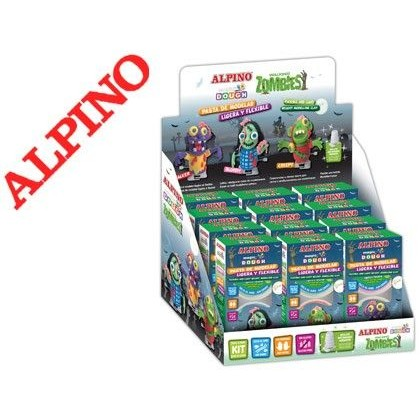 PASTA PARA MODELAR ALPINO MAGIC DOUGHT WALKING ZOMBIES EXPOSITOR DE 12 UNIDADES