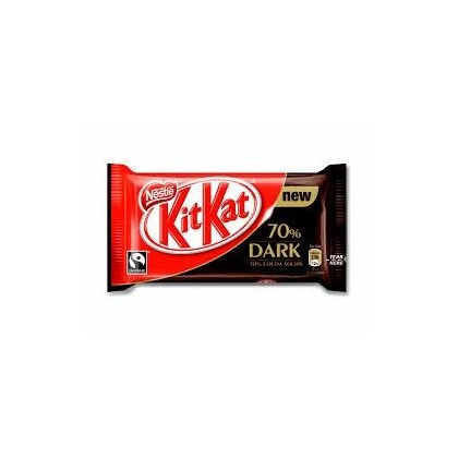KIT KAT NESTLE DARK 70% CACAO PAQUETE DE 4 BARRITAS