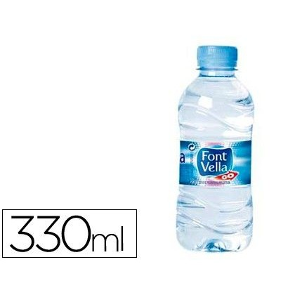 AGUA MINERAL NATURAL FONT VELLA BOTELLA 330 ml