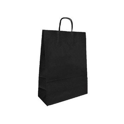 BOLSA KRAFT Q-CONNECT NEGRO ASA RETORCIDA 420X190X480 MM