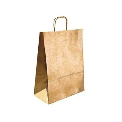 BOLSA KRAFT Q-CONNECT ORO ASA RETORCIDA 270X120X360 MM